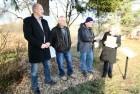 Podpora pomníku padlým občanům Černé Vody.